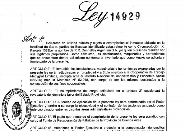ley 14929